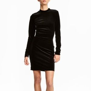 H&M Dresses - NWOT. 2019 H&M Holiday black stretch velvet dress